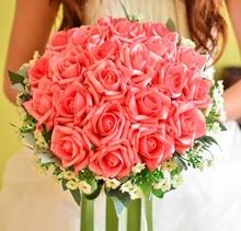 Heißer Verkauf PE künstliche Braut übergibt Blume Hochzeit Brautstrauß buque de noiva Drop Verschiffen, WQ002(China (Mainland))