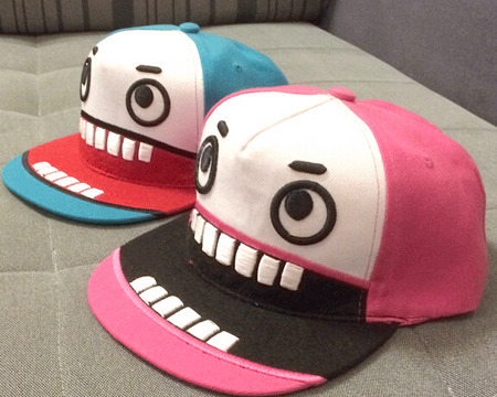 2 STYLES CARTOON BIG MOUTH PATTERN FACE SNAPBACK BASEBALL CAP HAT CHEAP GOOD ADULT ADJUSTABLE CHEAP OUTDOOR FREE SHIPPING T6(China (Mainland))