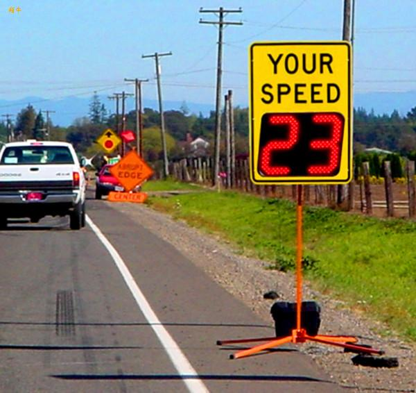 radar actived flashing speed limit radar sign traffic safety signal(China (Mainland))