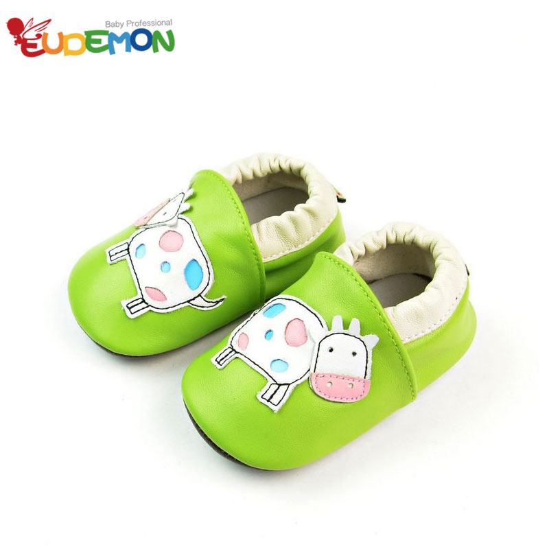 [Eudemon] Cute Animals Style Baby Shoes Genuine Leather Baby Moccasins Soft Sole Infant Shoes For Child Newborn First Walkers(China (Mainland))