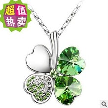 New Brand Necklace Fashion Jewelry Clover Necklace Statement Necklace Women Choker Crystal Necklaces & Pendants 2207
