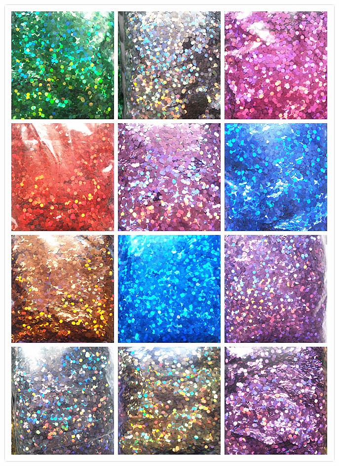 free shipping 12 bag each bag 50gram 3mm hexagon glitter shape rainbow nail glitter powder bulk packing 3d nail art decoration(China (Mainland))