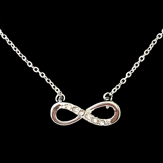 1 2016 Gold/Silver/Rose Gold Women Party Gift Crystal Jewelry Vintage Simple CZ Infinity Necklace Femme - Show store
