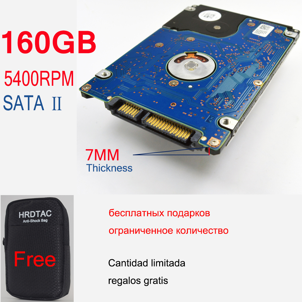 "2.5 "" HDD 160GB 5400RPM SATA III / SATA II Laptop 7MM thick Internal Hard Drive Disk Disco Duro Interno other item 1TB 500GB(China (Mainland))"