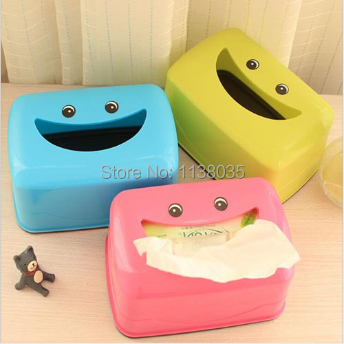 plastic car tissue box cover vintage home decoration cute car accessories toilet paper storage cartoon paper holder Big mouth(China (Mainland))