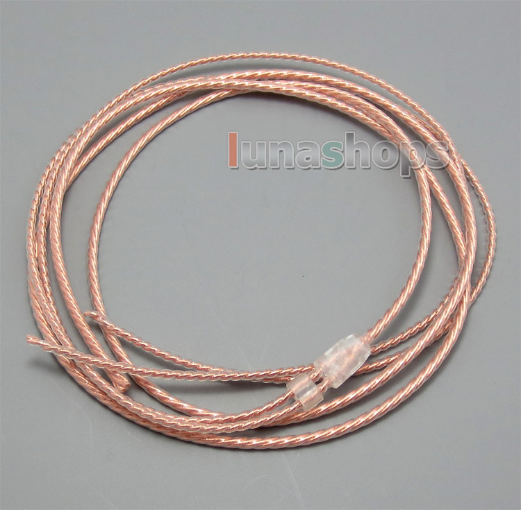 Bulk 1.2m Pure 5N PCOCC Headphone Earphone Cable DIY Custom or repair earphone wire<br><br>Aliexpress