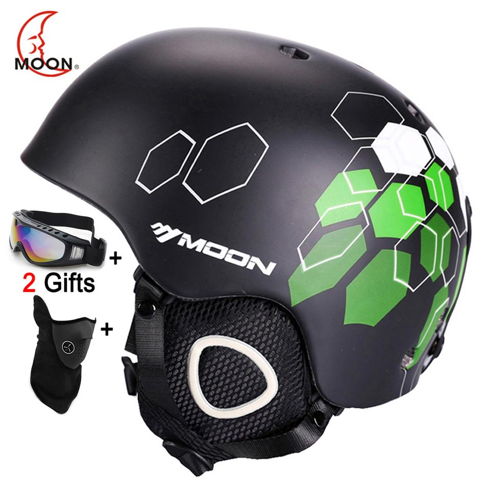 MOON CE Certification Safety Ski Helmet Integrally-molded Skating/Skateboard/Snowboard Helmet Size 52-64 CM(China (Mainland))