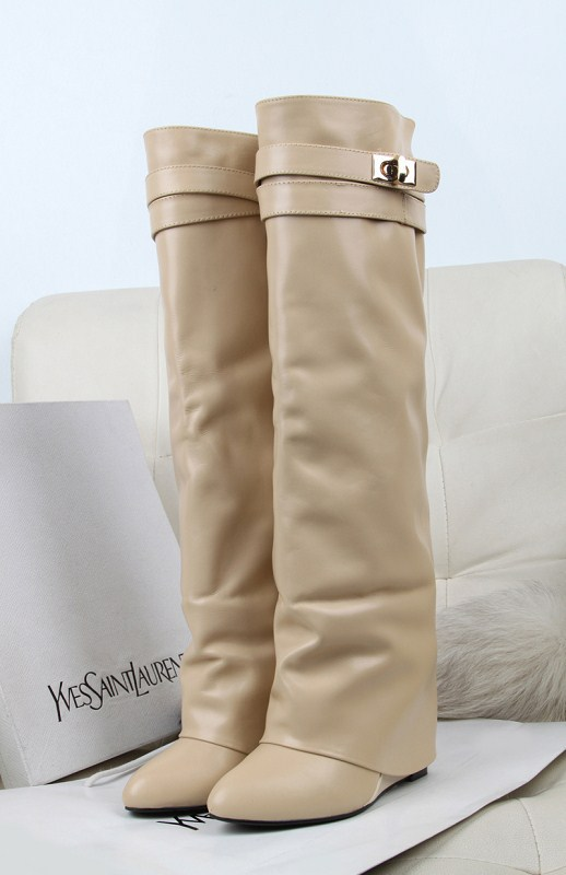 2013 New Brand fashion women genuine leather wedges heel winter Fall Knight Thigh Knee-High pointed Toe Boots