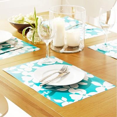 New Japan&Korea style PVC place mat table dinner mat & coaster 24pcs/lot waterproof Rectangle #RN366(China (Mainland))