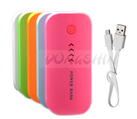 Hot Sale Power Bank 5600mAh Cute Portable Charger Pocket Rechargeable External Battery Pack WIth Indicator Light Free Shipping