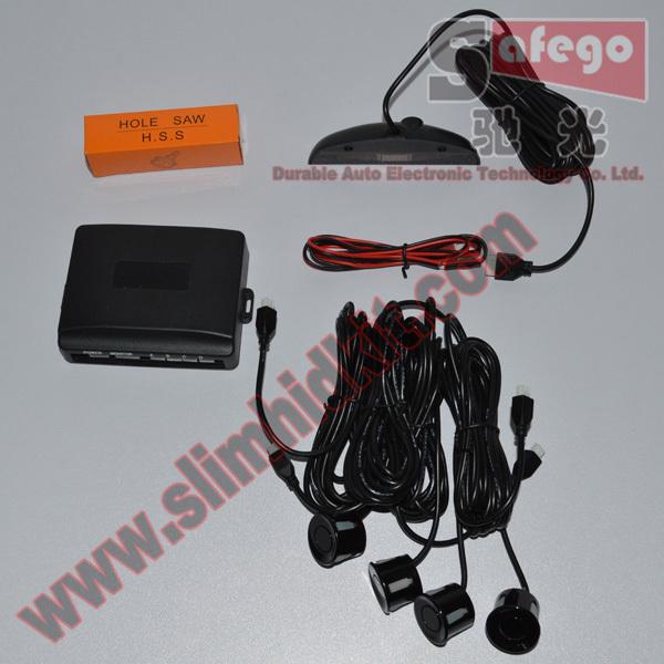 1 set LED Display Wired Parking Sensor Car Reverse Backup Rada Sensors With switch button+4 sensors Car Parking System(China (Mainland))