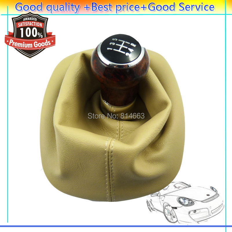 5 Speed Wood Gear Shift Knob Gaitor Boot Beige Fpr VW PASSAT B5 B5.5 1998 1999 2000 2001 2002 2003 2004 (HDSQVW001) - Shanghai Xinyue Auto Parts Co,. Ltd. store