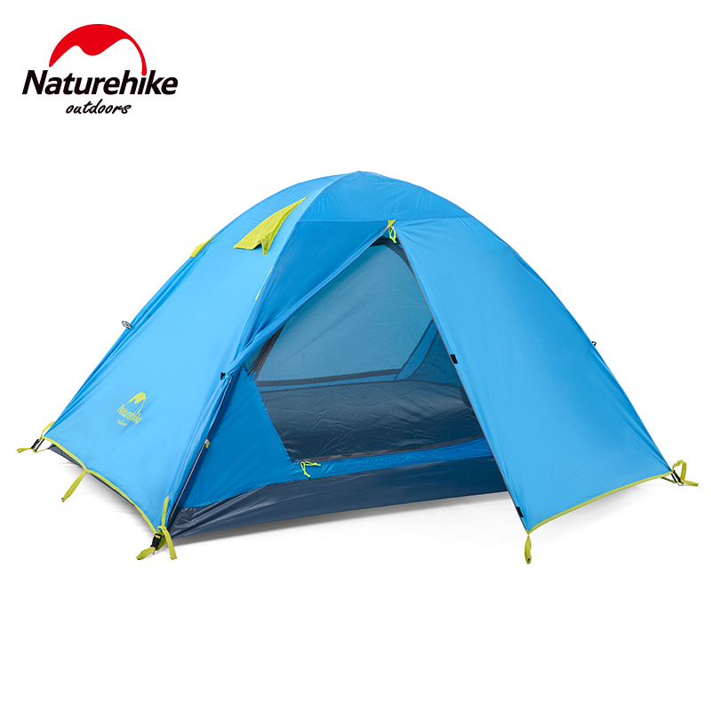 NatureHike Outdoor Camping Tent Double Layer 3 Person Tent Waterproof Double Door Design Familiy Large Tents For Hiking 3 Season(China (Mainland))