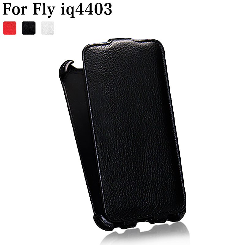 (Clear Stock) Factory top Luxury Leather Case For Fly iq4403 Energie 3 Lichee Style phone leather sets Cover Phone Bag P001(China (Mainland))