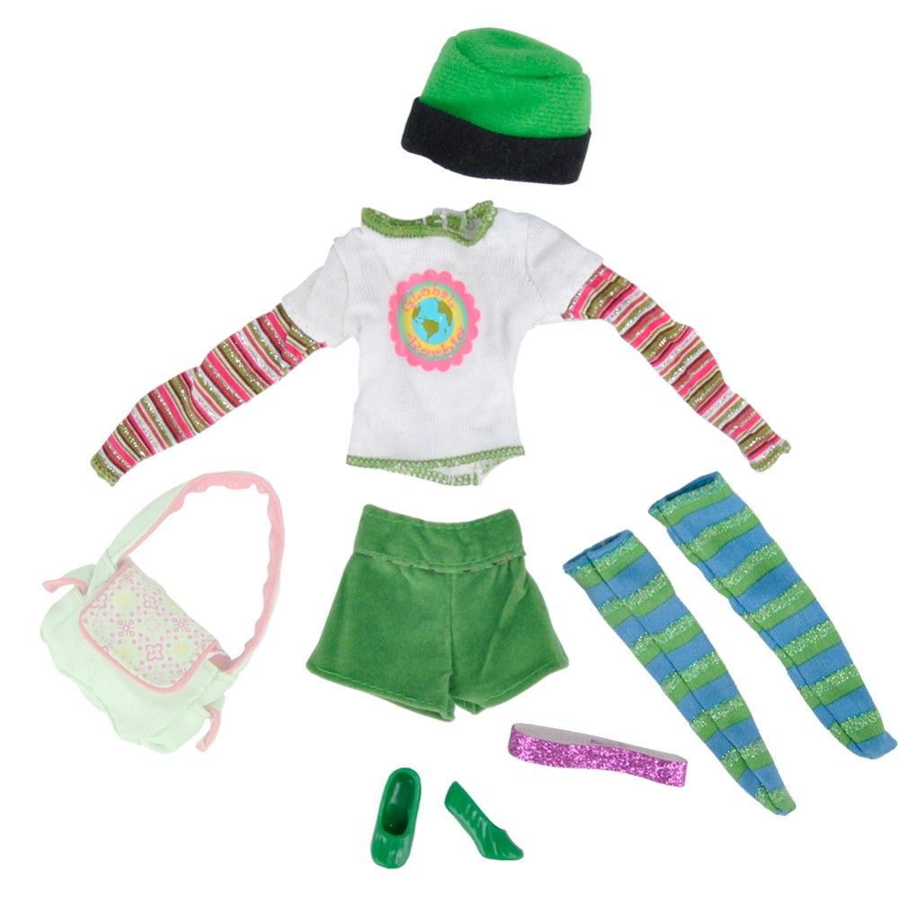 Handmade Dolls Garments Shirt Trousers Outfit+purse+Footwear For Barbie Doll