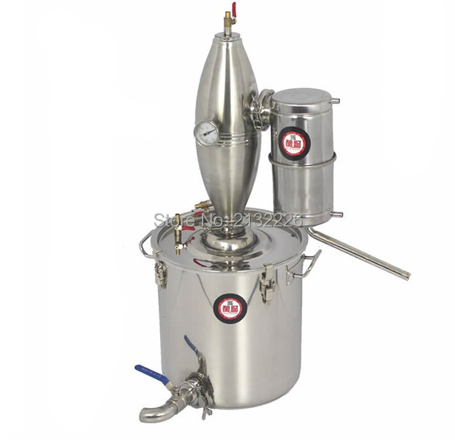25L ALCOHOL STAINLESS DISTILLER HOME BREW KIT MOONSHINE STILL WINE MAKING BOILER(China (Mainland))