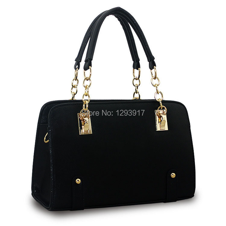 2015 Brand New Spring Autumn Fashion European American Style PU Leather Simple Solid Single Shoulder Zipper Handbag - Moon Group Super Market store