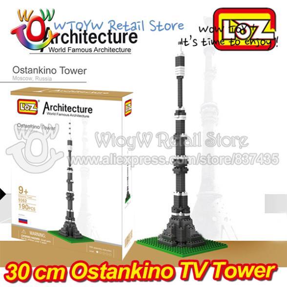 5 шт/много  Москва Останкинская башня лоз собран строительных блоков обучения и образования 3D головоломки образовательные игрушки
