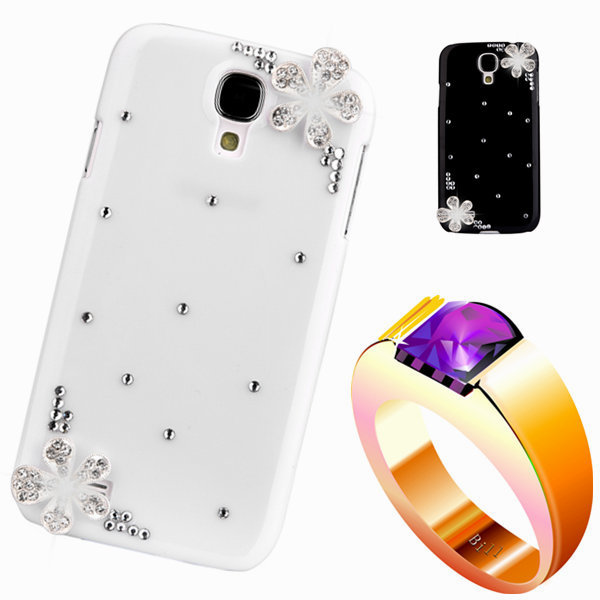 diamond rhinestone case For samsng ace Floral mobile Phones & Accessorie luxury bling plastic back cover For galaxy s5830(China (Mainland))