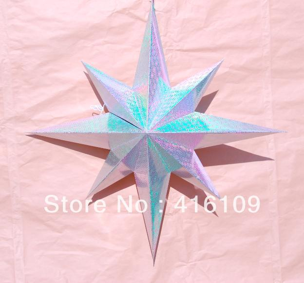 free shipping christmas decorations stars hang hotel ornaments stars adornment paper art. Black Bedroom Furniture Sets. Home Design Ideas