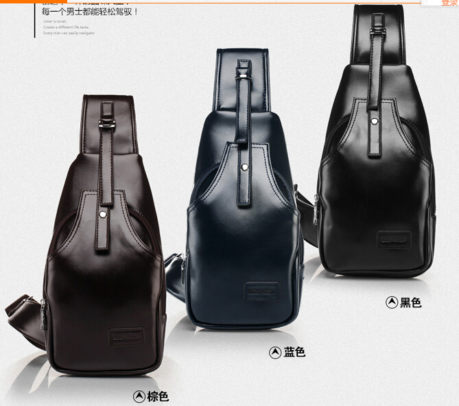 Outdoor Men's Crossbody -2015 New fashion Brand genuine leather College Wind fashion casual shoulder bag Messenger bag man bag(China (Mainland))