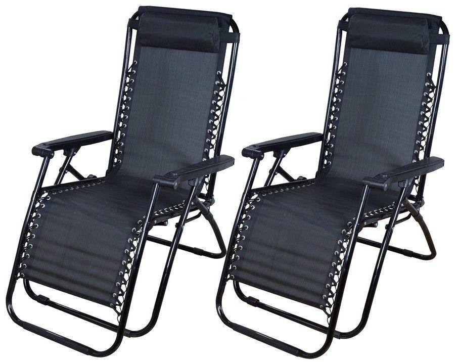 Noir 2 en plein air z ro gravit chaise de plage patio for Chaise 0 gravite