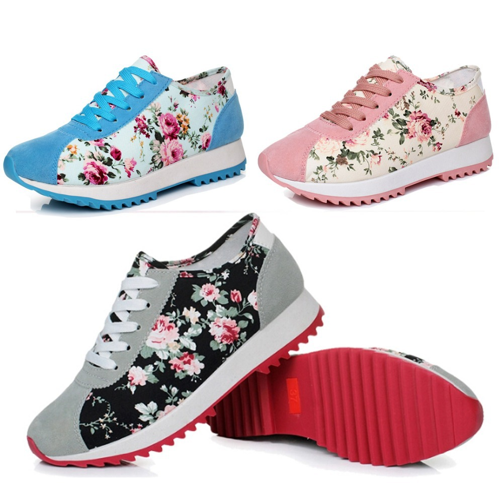 new spring women sneakers and flats red sole print ladies. Black Bedroom Furniture Sets. Home Design Ideas