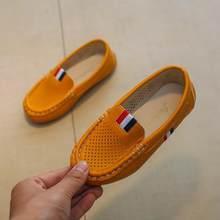 גודל 21-36 ילדים קטן חורים רך לנשימה נעלי אביב קיץ בני מוקסינים מזדמנים #8E270136(China)