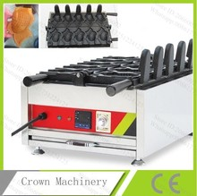 110v/220V Digital Commercial Non-stick 5pcs Gold Fish Ice Cream Taiyaki Machine Maker Baker with CE(China (Mainland))