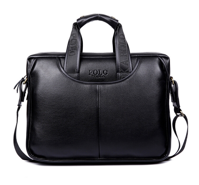 2016 Mens briefcase business Shoulder bag Men messenger bags Tote Designer Computer Laptop Leather POLO Bag Men's Travel Bags(China (Mainland))