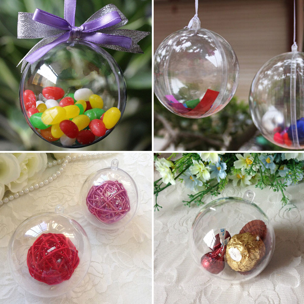 High Quality Wholesale Clear Plastic Ornament Balls From