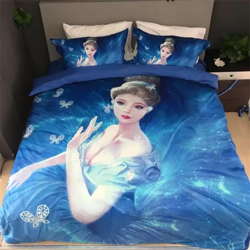 online kaufen gro handel m dchen teen bettw sche aus china. Black Bedroom Furniture Sets. Home Design Ideas