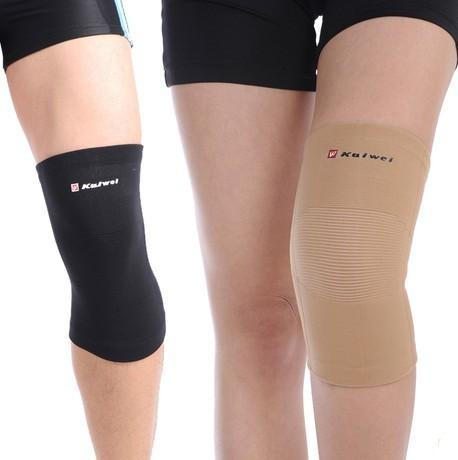 1 pair kneelet kneecap canions Knee protector Pad genouillere elastic knee cap for sports support,size S M L,color black yellow(China (Mainland))