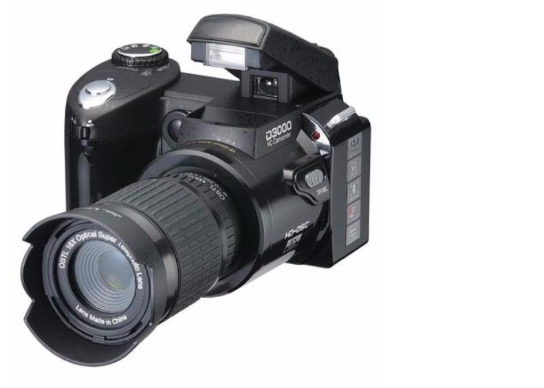 "Retail POLO D3000 Cheap SLR Digital camera 16MP 3.0 "" LTPS screen + 21 times telephoto lens + wide angle lens(China (Mainland))"