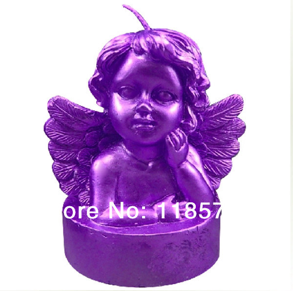 Free shipping 3D baby angel handmade silicone candle mould ,angel shaped candle silicone mold(China (Mainland))