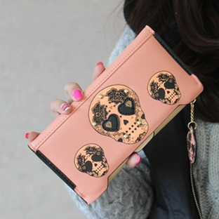 New 2014 Duffle Desigual Wallets women bag gig bag Clutch Purses Violetta Money Clutch Necessaire Girls Skull Cute Wallets(China (Mainland))