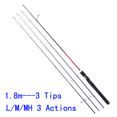 3 Tips L/M/MH Three Actions Carbon Lure Rod 1.8m Spinning Fishing Rod Baitcasting Fish Rods Three Tip Super Light Top Quality<br><br>Aliexpress