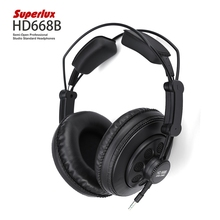 Superlux HD668B Wired Semi-open Professional Studio Standard Dynamic Earphone HiFi Music Headband Noise Cancelling Heandset(China (Mainland))