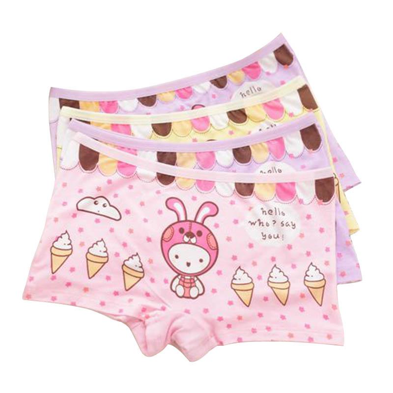 2016 Girl Underwear Panties Boxer hot sale Children Pants 6pcs/lot Kids Underware girls boxer briefs cartoon Panties for Girls(China (Mainland))