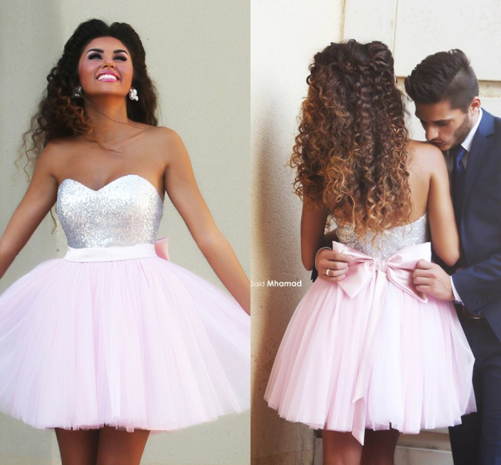 8th Grade Dance Dresses Pink 8th Grade Prom Dress Tulle