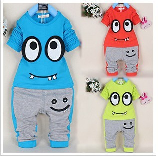 2014 Spring autumn Baby Suit Cotton Infant suit Big eyes Boys Clothing Sets A181 - Helen Children's clothing shop store