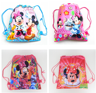 2015school bags kids cartoon drawstring backpack& bag For kids bag back to school mochila infantil-4