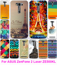 Hot Eiffel Tower Serie Soft TPU Phone Case Cover Asus Zenfone 2 Laser ZE500KL ZE500KG 5.0 inch Housing Bags Skin Shell Hood - AKABEILA Official Store store