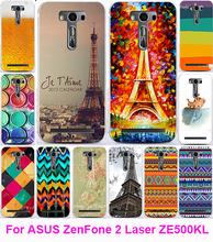 Hot Eiffel Tower Serie Soft TPU Phone Case Cover Asus Zenfone 2 Laser ZE500KL ZE500KG 5.0 inch Housing Bags Skin Shell Hood - AKABEILA Official Store store