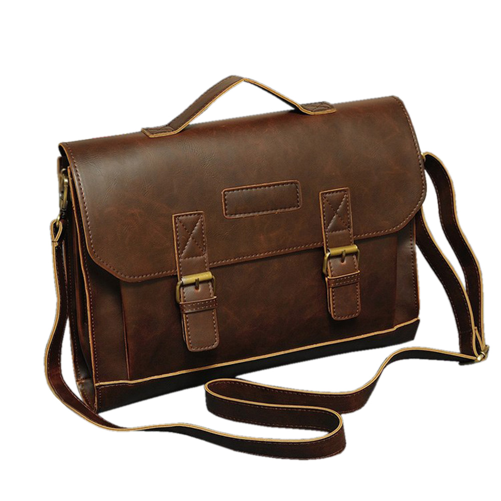 Briefcase Business Men Bags Faux Leather Messager Handbags Bags Casual Fashion Classic Mens Large Capacity Bags Free Shipping<br><br>Aliexpress