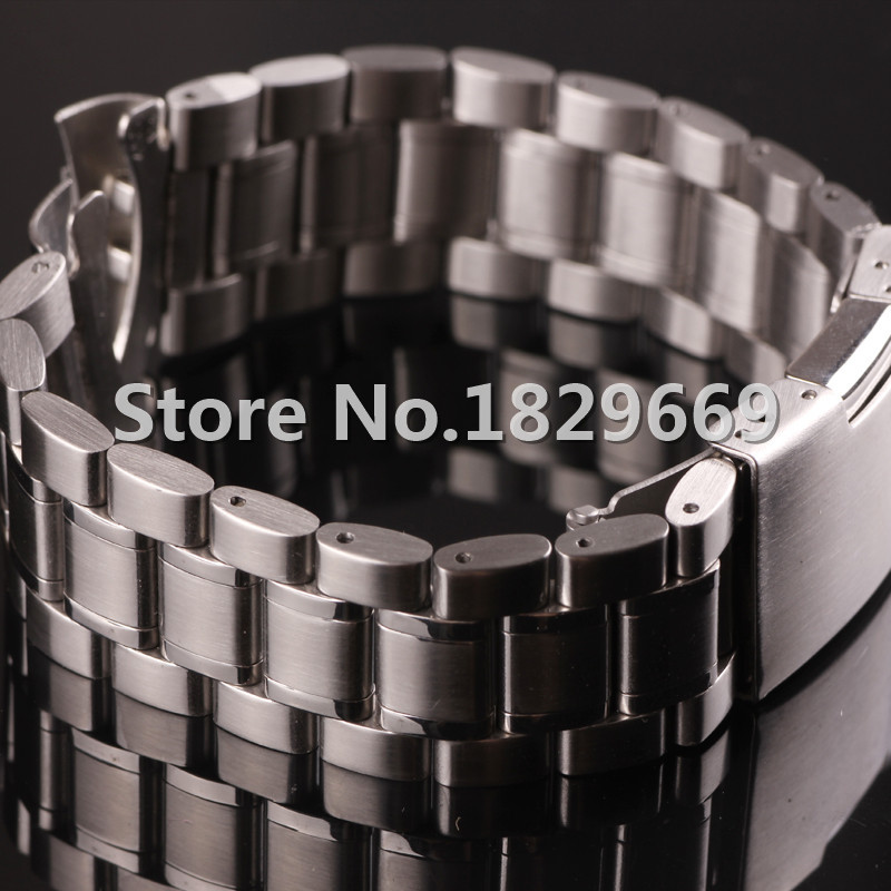 PURE SOLID STAINLESS STEEL WATCH BANDS STRAP BRACELETS 14mm 16mm 18mm  20mm 22mm 24mm stainless steel watchband<br><br>Aliexpress