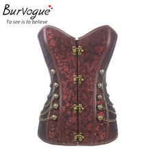 Steel bone corset steampunk waist training S-6XL