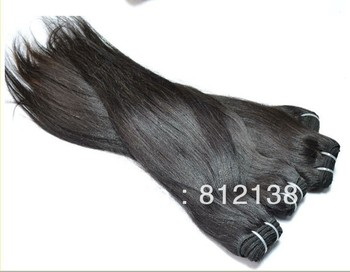 "wholesale 10pcs/lot straight virgin Brazillian remy human hair extensions 8""-30"" machine weft dhl free shipping"