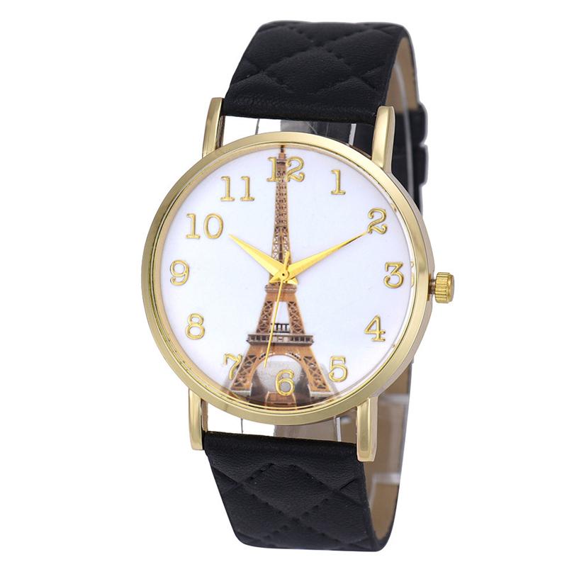 Fabulous new Paris Eiffel Tower Women Faux Leather Analog Quartz Wrist Watch 2.22<br><br>Aliexpress