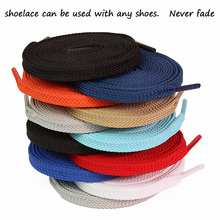 (2 pair/lot) Width 8mm, 120cm long laces. Sports shoelaces. Shoes rope. Ribbon. sneakers. can choose a variety of colors